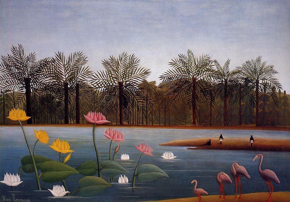 Henri Rousseau Flamingoes, 1907
