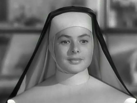 "Ingrid Bergman as the saintly Sister Mary Benedict, ""The Bells of St. Mary's, 1945."
