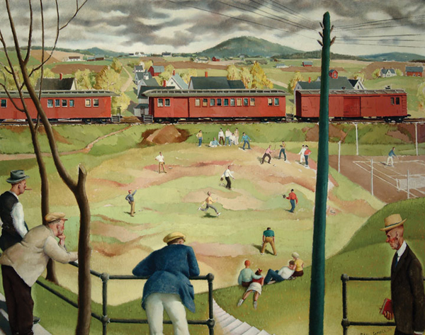 Paul Sample, Sand Lot Ball Game, 1938. Oil on canvas. The Arkell Museum, Canajoharie, New York.