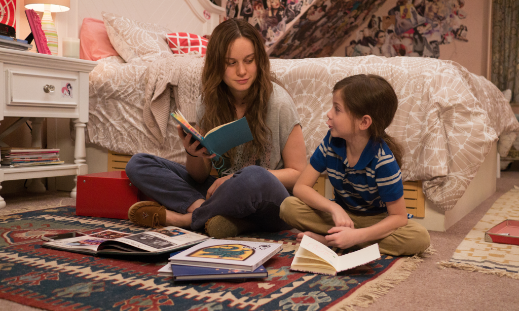 Brie Larson as Ma and Jacob Tremblay as Jack in Room.
