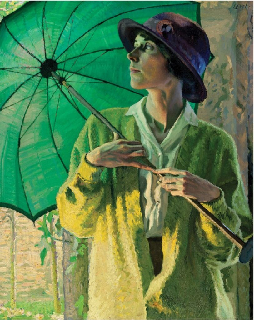 William John Leech (Irish artist, 1881-1968) The Sunshade, 1913