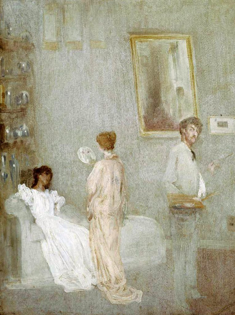 James Whistler The Artist in His Studio 1865-66 Oil on paper mounted on panel, 63 x 46 cm Art Institute, Chicago