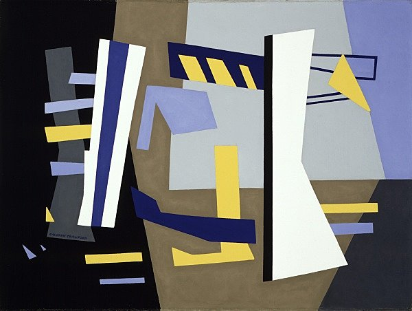 Ralston Crawford, Third Avenue El, 1949 oil on canvas 30-3/8 x 40-5/16 x 1-1/2 in. unframed Collection Walker Art Center Gift of the T. B. Walker Foundation, Gilbert M. Walker Fund, 1951