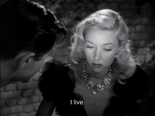 "Gloria Grahame in ""Crossfire,"" 1947 Screenplay by John Paxton Based on the novel, ""The Brick Foxhole"" by Richard Brooks In the movie the motive for murder is anti-Semitism. But in the original novel the motive is homophobia. But at the time any mention of homosexuality was forbidden by the Motion Picture Production Code."