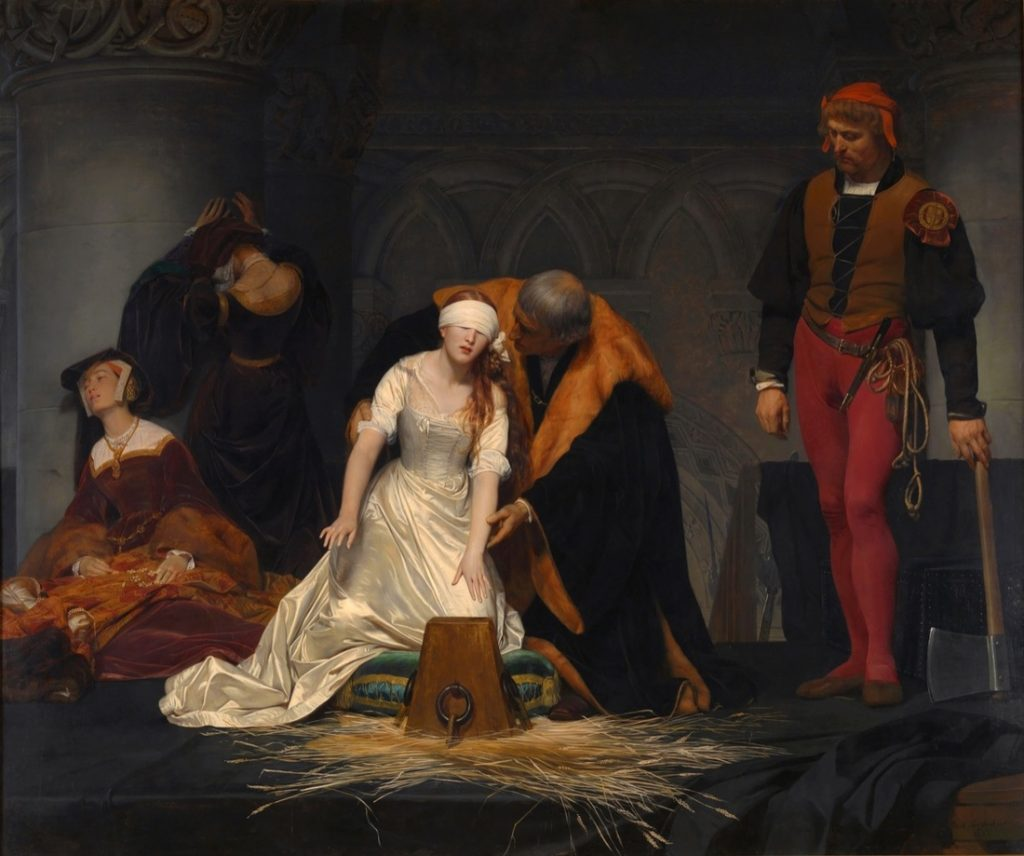 Paul Delaroche, The Execution of Lady Jane Grey, 1833. Collection of the National Gallery