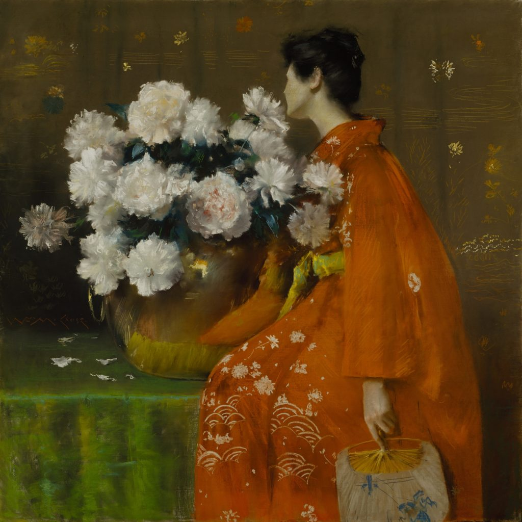 William Merritt Chase c.1889 Pastel On Paper, Prepared With A Tan Ground, And Wrapped With Canvas Around A Wooden Strainer 48 x 48 in.