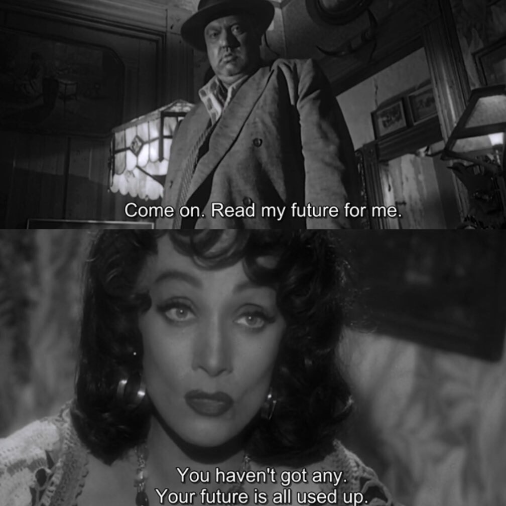 "Marlene Dietrich to Orson Welles, Touch of Evil, 1958 Screenplay by Orson Welles Based on""Badge of Evil"" 1956 novel by Whit Masterson"