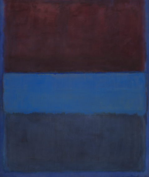 Mark Rothko No. 61 (Rust and Blue) [Brown Blue, Brown on Blue] oil on canvas, 1953
