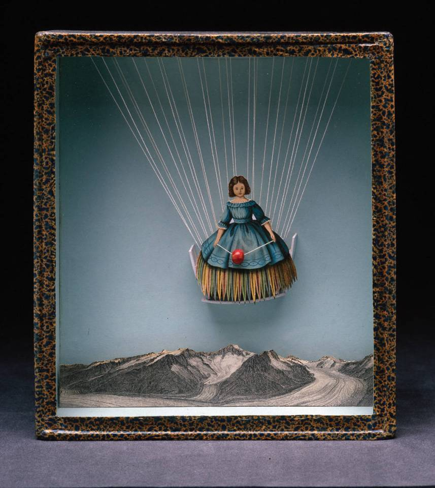 Joseph Cornell Untitled (Tilly Losch), c. 1935 - 38 Box construction 10 x 9 1/4 x 2 1/8 inches (25.4 x 23.5 x 5.4 cm) The Robert Lehrman Art Trust, Courtesy of Aimee and Robert Lehrman, Washington, DC Photograph by Mark Gulezian/QuickSilver, Washington, DC © The Joseph and Robert Cornell Memorial Foundation/Licensed by VAGA, New York, New York