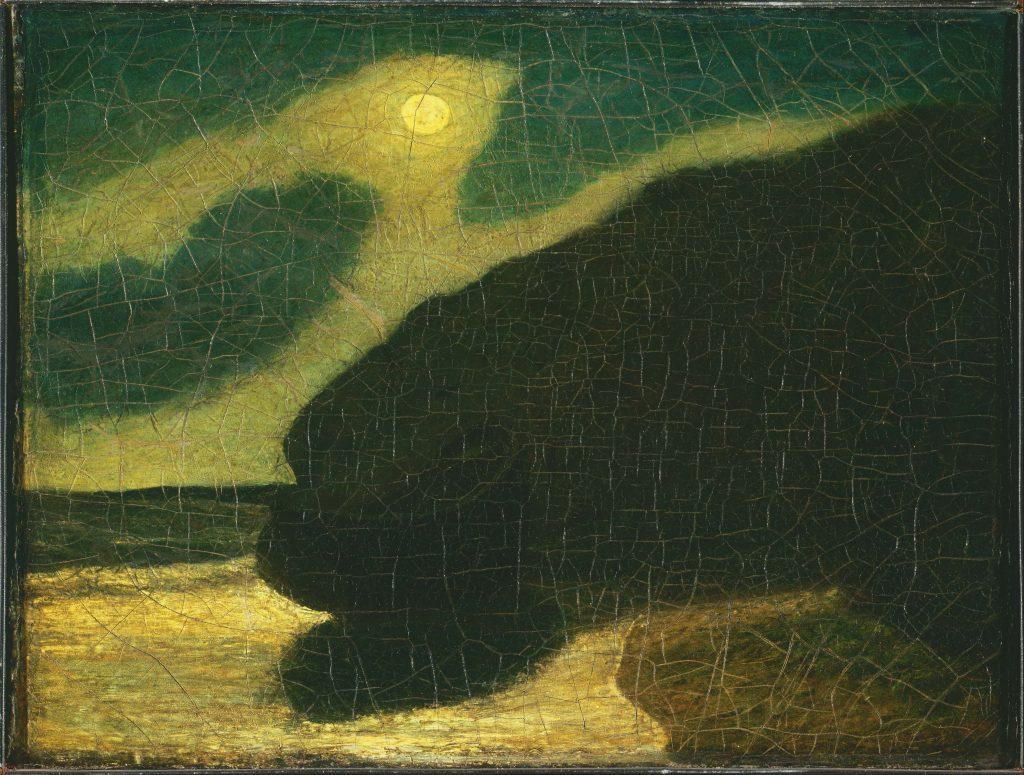 Albert Pinkham Ryder (1847-1917) Moonlit Cove, early to mid-1880s Oil on canvas 14 1/8 x 17 1/8 inches The Phillips Collection, Washington, D.C.