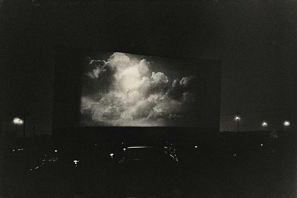 Diane Arbus Clouds on Screen at a Drive-in Movie Theater New Jersey, 1960