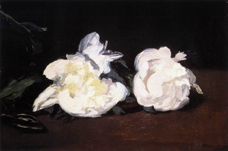 Edouard Manet Branch of White Peonies and Secateurs, c. 1864 oil on canvas