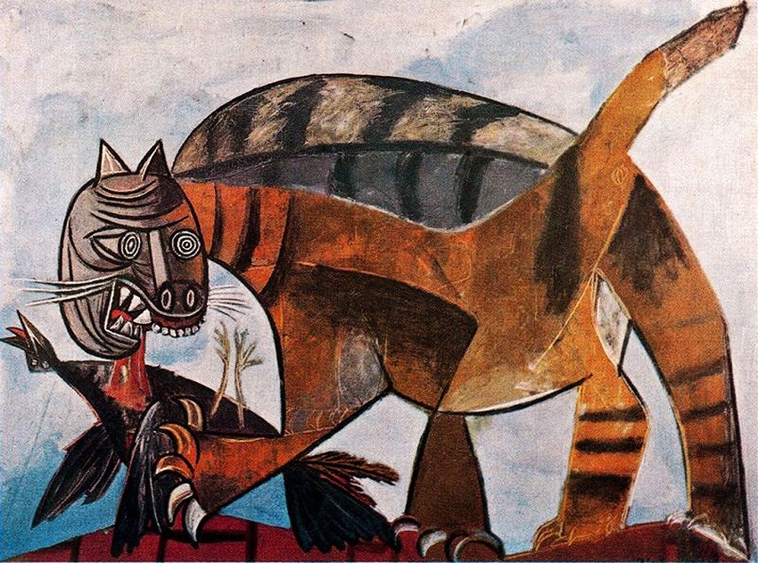 Pablo Picasso (1881-1973) Cat Eating a Bird, 1939
