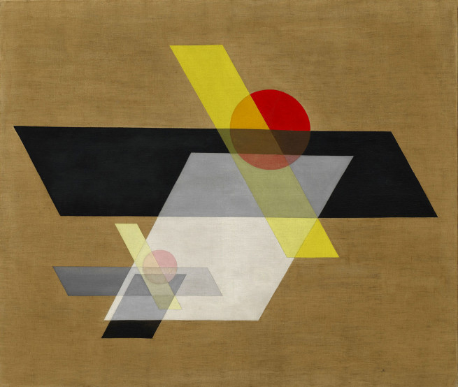 László Moholy-Nagy A II (Construction A II) 1924 Oil and graphite on canvas 115.8 × 136.5 cm Solomon R. Guggenheim Museum, New York, Solomon R. Guggenheim Founding Collection © 2016 Hattula Moholy-Nagy/VG Bild-Kunst, Bonn/Artists Rights Society (ARS), New York