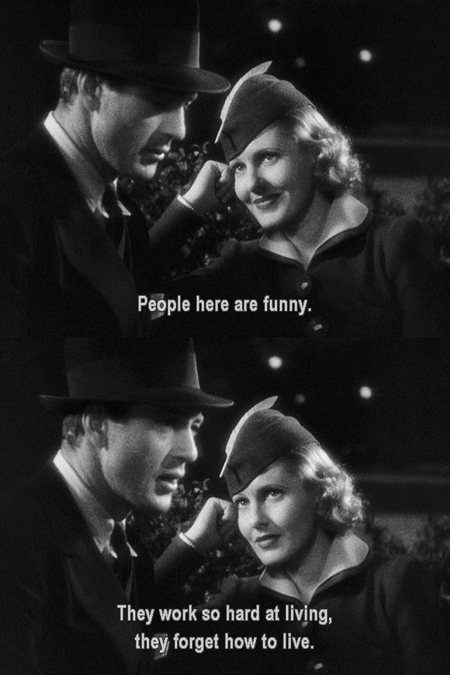Gary Cooper, Jean Arthur in Mr. Deeds Goes to Town, 1936 Screenplay by Robert Riskin Based onOpera Hat 1935 short story by Clarence Budington Kelland