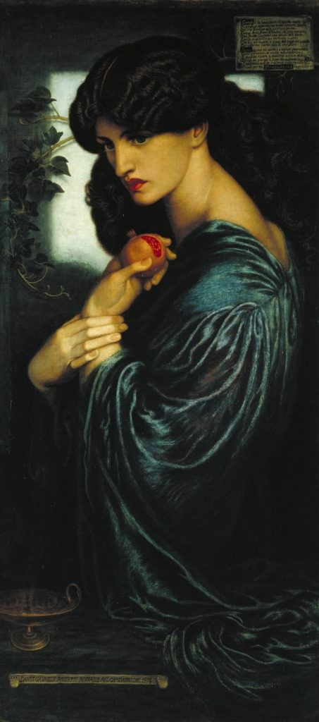Dante Gabriel Rossetti Proserpine 1874 Oil on canvas 1251 x 610 mm