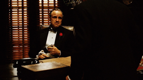 """I understand. You found paradise in America. You had a good trade, you made a good living. The police protected you and there were courts of law. So you didn't need a friend like me. Now you come and say ""Don Corleone, give me justice."" But you don't ask with respect. You don't offer friendship. You don't even think to call me Godfather. You come into my house on the day my daughter is to be married and you ask me to do murder — for money."" The Godfather (1972) Screenplay by Mario Puzo, Francis Ford Coppola Based onThe Godfather by Mario Puzo"