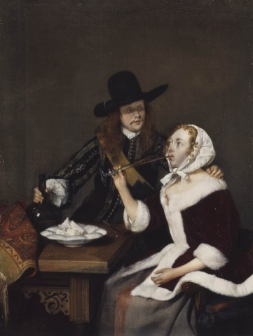 Gerard ter Borch A Gentleman Pressing a Lady to drink c.1658-9 Royal Collection Trust © Her Majesty Queen Elizabeth