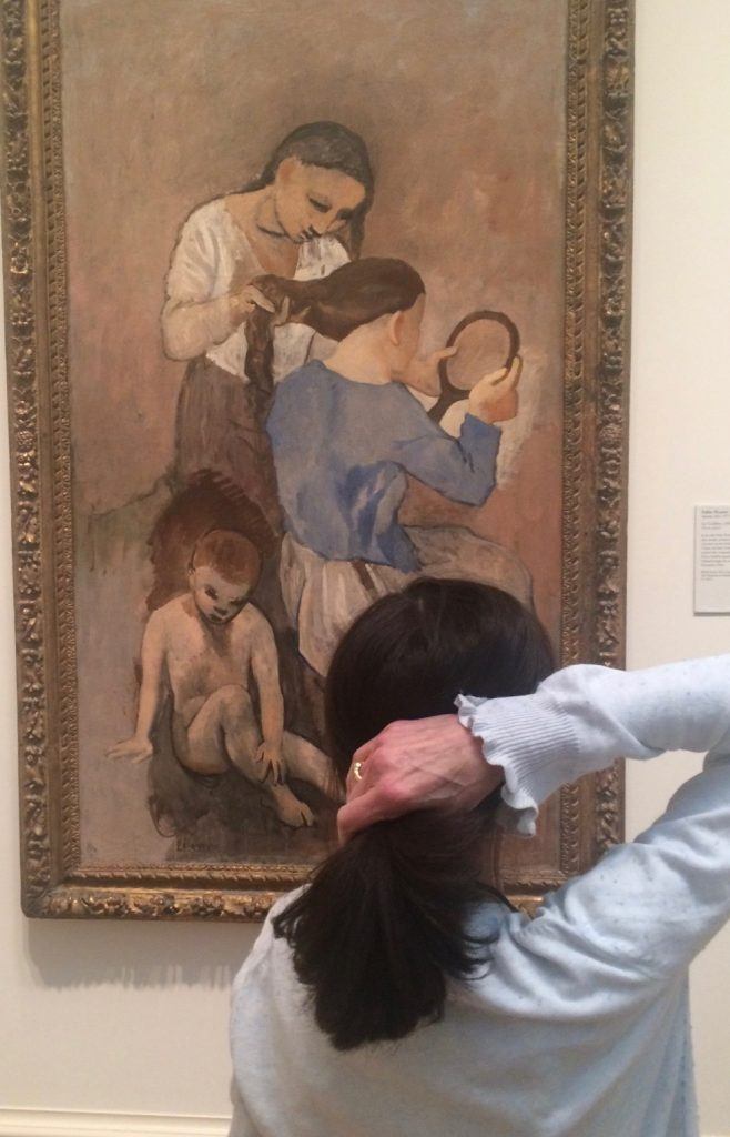 Karen ties herself into a knot with Picasso's Blue Period.