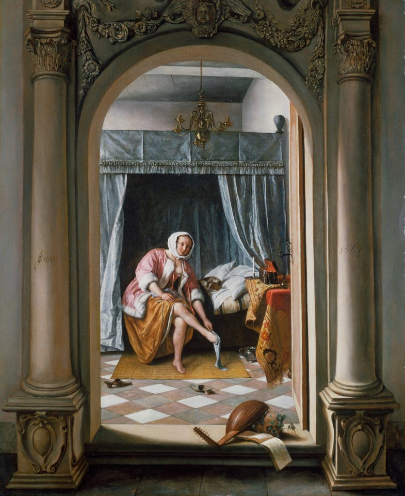 Jan Steen A Woman at her Toilet 1663 Royal Collection Trust © Her Majesty Queen Elizabeth