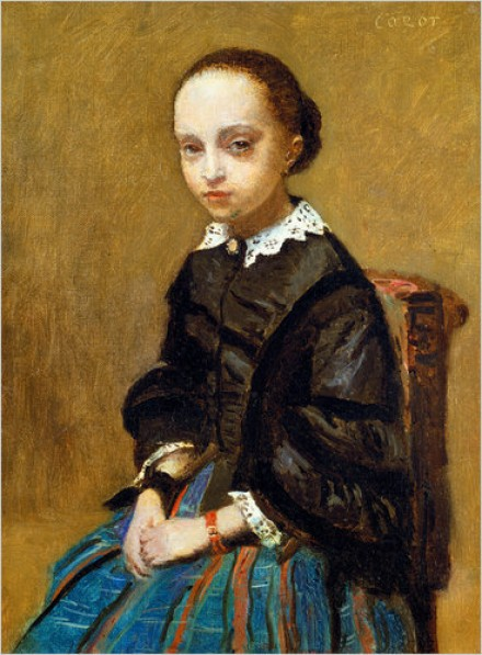 Jean-Baptise-Camille Corot, Portrait of a Girl, 1857-8