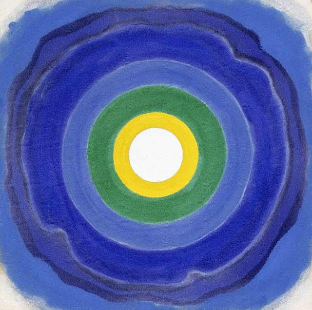 Kenneth Noland (American, 1924-2010) April 196- Acrylic on canvas 16 x 16 inches