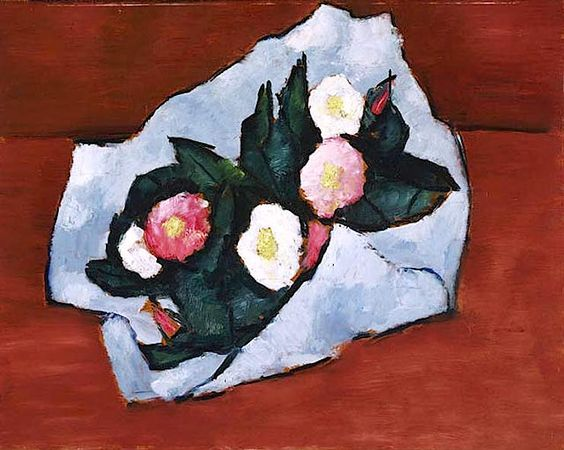 Marsden Hartley (American, 1877-1943) Wild Roses, 1942, 1942 oil on hardboard 22-x-28-inches The Phillips Collection Washington D.C.
