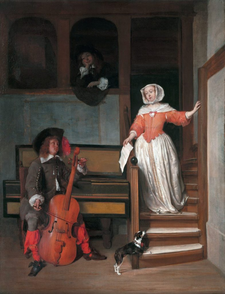 Gabriel Metsu The Cello Player oil on canvas 62.9 x 48.2 cm c.1658