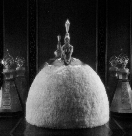 A publicity still for Bright Lights (1925, dir. Robert Z Leonard), a silent romantic comedy that is now considered lost. The women are dressed as giant perfume bottles. via: Sin in Soft Focus