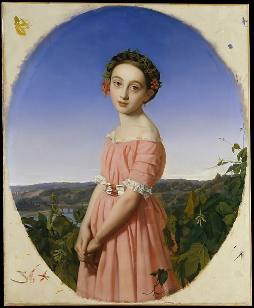 Henri Lehmann (French, Kiel 1814–1882 Paris) Faustine Léo (1832–1865) She was Lehmann's cousin 1842 Oil on canvas 39 3/8 x 32 in. (100 x 81.3 cm) Painting is in its original frame