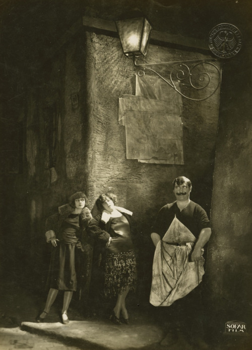 The Joyless Street (1925, dir. G.W. Pabst), featuring Greta Garbo (far left) in her last European film before emigrating to the United States. Full film online here.