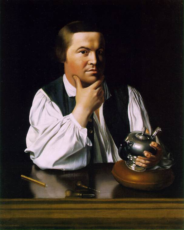 John Singleton Copley Paul Revere c. 1768-70 Oil on canvas 35 x 28 1/2 in. (88.9 x 72.3 cm) Museum of Fine Arts, Boston