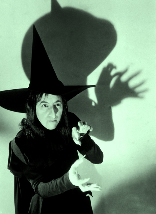 "Margaret Hamilton in publicity still for The Wizard of Oz (1939, photo by Virgil Apger) ""I was in a need of money at the time, and my agent called. I said, 'Yes?' and he said 'Maggie, they want you to play a part on the Wizard.' I said to myself, 'Oh Boy, The Wizard of Oz! That has been my favorite book since I was four.' And I asked him what part, and he said 'The Witch' and I said 'The Witch?!' and he said 'What else?'"""