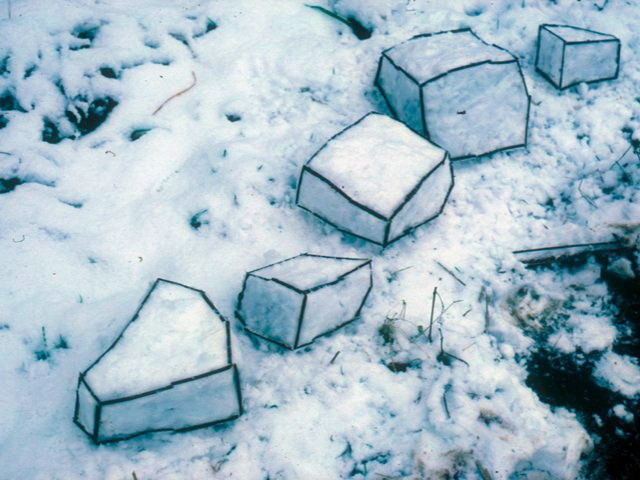 Andy Galsworthy Earth Art Snow Sculpture