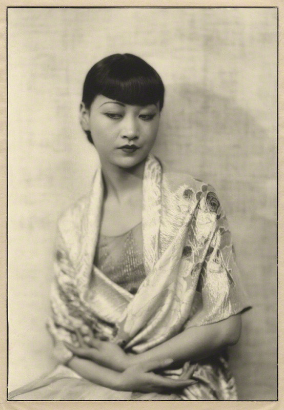 Anna May Wong by Dorothy Wilding, chlorobromide print on card mount, 1929