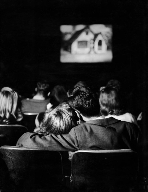 Nina Leen Teenage Couple in a Movie Theatre, Webster Groves, Missouri, 1944