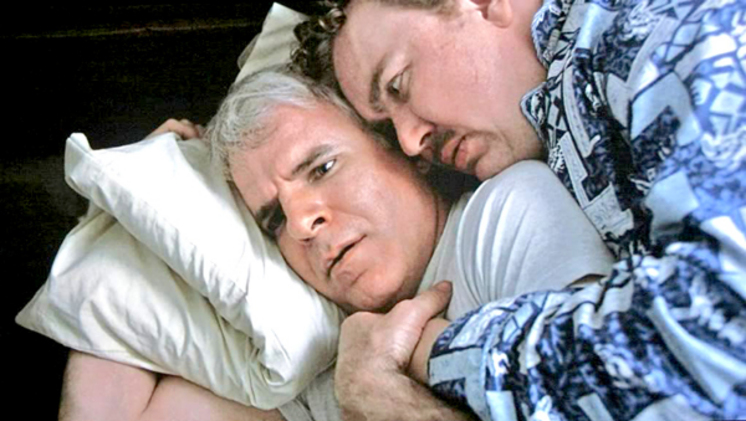 Steve Martin and John Candy in Planes, Trains and Automobiles, 1987.