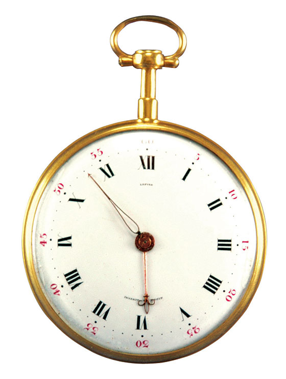 """When George Washington wanted a new watch in 1788, he wrote his fellow Founding Father Gouverneur Morris, asking him to buy one for him in Paris. Morris, who would become U.S. minister to France three years later, was making a business trip there. Washington asked for a simple, gold watch of good quality, similar to the big, slender one that Thomas Jefferson had gotten for James Madison. He sent Morris 25 guineas, saying he would pay more if necessary. (This is according to the book Jean-Antoine Lépine, Horloger by Adolphe Chapiro.) Three months later, Morris wrote Washington from Paris that Jefferson had warned him against the maker of Madison's watch, claiming he was a crook. Jefferson instead recommended that Morris go to another watchmaker, named Romilly. Sadly, Romilly turned out to be a bad apple, too, Morris explained to Washington. Morris then asked a merchant for yet another recommendation, and was given the name of a watchmaker named Gregson. He was no better than the first two. Finally, Morris hit paydirt. He went to Jean-Antoine Lépine, watchmaker to King Louis XVI and one of the greatest watchmakers who ever lived. He bought from him two identical watches, one for Washington and one for himself. They were large, simple, keywound watches with virgule escapements. Washington's was numbered 5,378. It remained in Washington's family until 1935. The watch's cuvette is engraved with the inscription """"Remontez à droite/Tournez les Equilles/Lepine Hger du Roy/A Paris."""" Source:"""