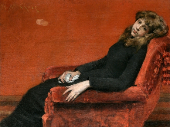 William Merritt Chase Young Orphan An Idle Moment, 1884