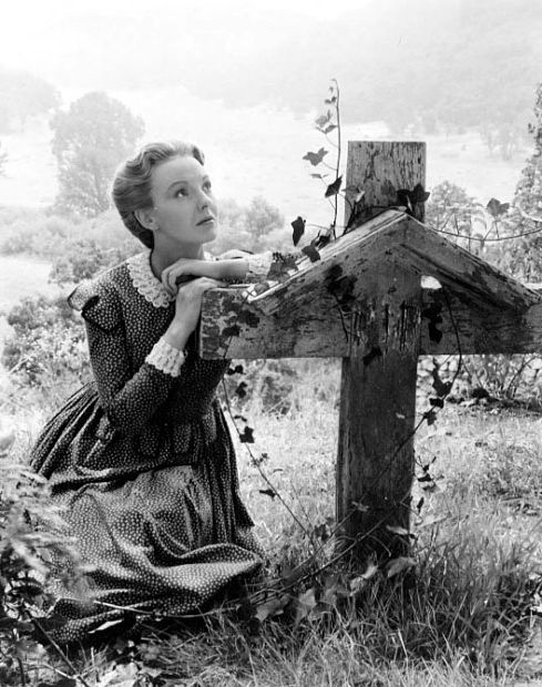 """Anna Lee in How Green was My Valley, 1939. Lee was among the most prominent female members of the John Ford stock company. Ford's pate name for her was Boniface, her middle name (joanna Boniface Winnifrith). Ford's feelings for Lee were cemented when she had a miscarriage while shooting How Green Was My Valley, brought on, it was believed, by collapsing during the scene where she learns her husband has died. She hadn't told Ford that she was pregnant, but he nevertheless, blamed himself. The result was that on every picture Lee worked on with him, Ford would assemble the cast and crew, then ask her if she was pregnant. """"No sir,"""" she would reply. """"I just wanted to make sure."""" —Source: Print the Legend, by Scott Eyman"""