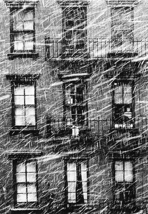 Paul Himmel Little Boy Staring at the Snow, 1950