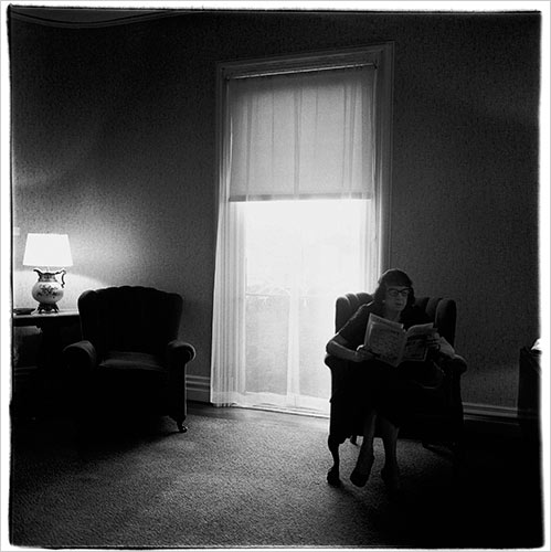 Lady in a Rooming House Parlor, Albion, NY, Diane Arbus