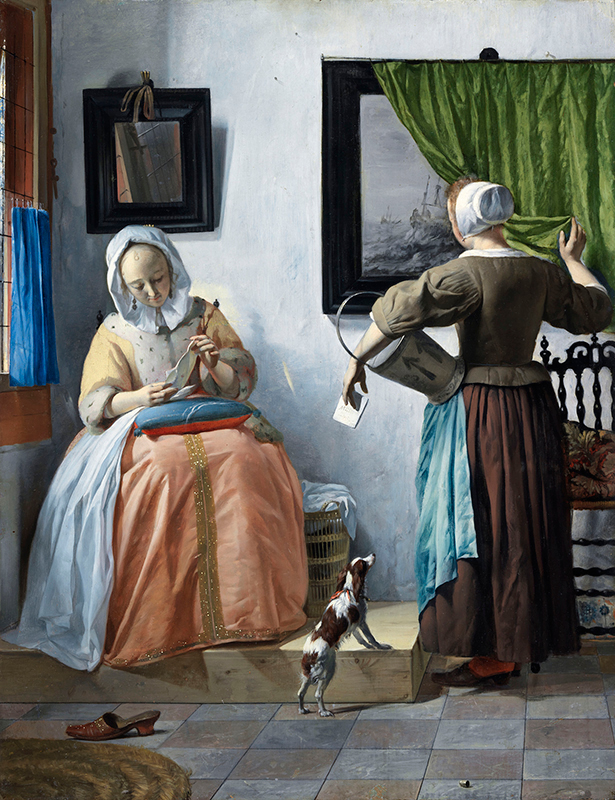 Gabriel Metsu A Lady Reading a Letter 1662-65 Oil on panel, 53 x 40 cm. National Gallery of Ireland, Dublin
